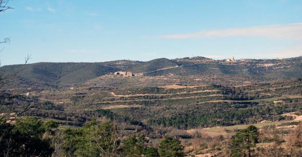 26.01.2015 vista general poble i santuari  Pinós -  Ramon Sunyer