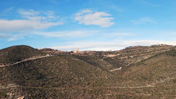 26.01.2015 vista general Santuari  Pinós -  Ramon Sunyer