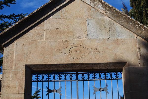 26.01.2015 detall llinda cementiri  Pinós -  Ramon Sunyer