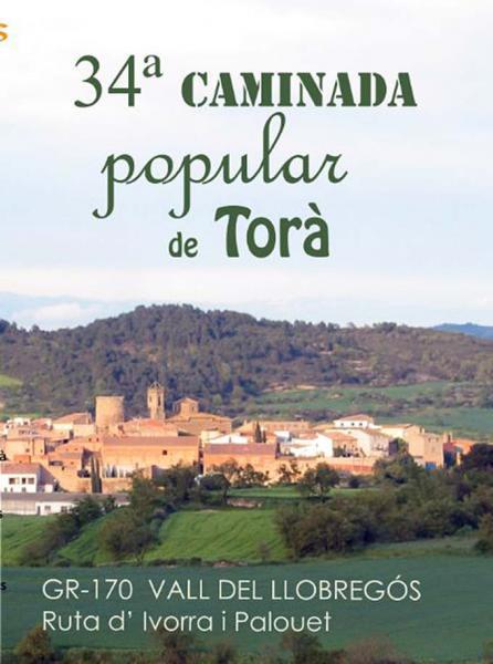 20.04.2015 Cartell 34 caminada popular  Torà -  APACT