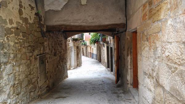 04.05.2015 Porxada al carrer Baix  Torà -  Ramon Sunyer