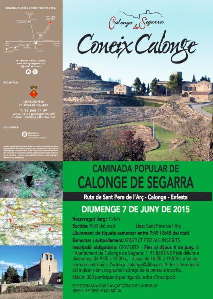 cartell 8a Caminada Coneix Calonge - Calonge de Segarra