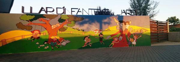23.06.2015 Mural a la llar d'infants  Torà -  Ramon Sunyer