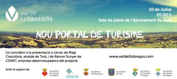 cartell Presentació del nou portal de Turisme de la Vall del Llobregós
