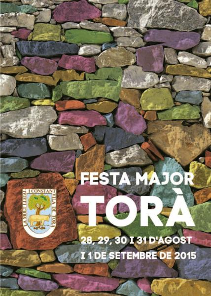 cartell Festa major Torà 2015 - Torà