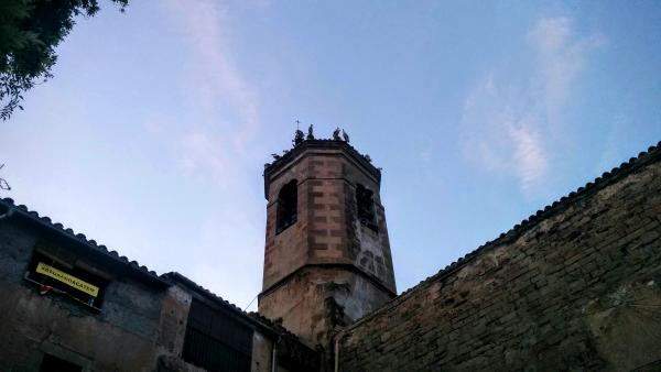 16.08.2015 El campanar un dels llocs escollits per la parada  Torà -  Ramon Sunyer