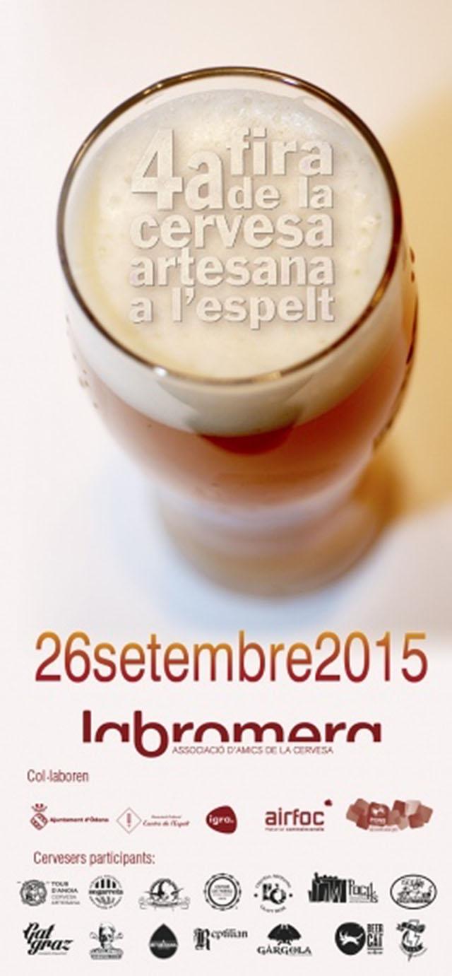 cartell 4a Fira de la Cervesa Artesana de l'Espelt