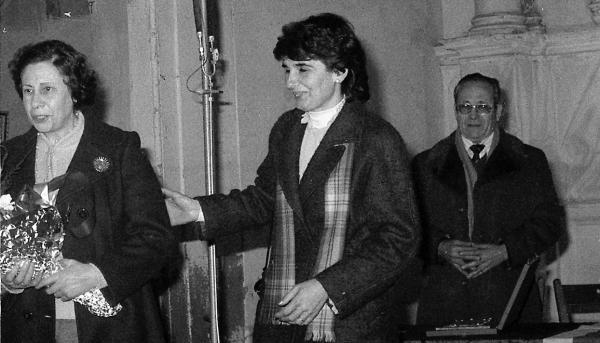 Neus Molins en un acte d'homenatge a Jaume Coberó - Torà