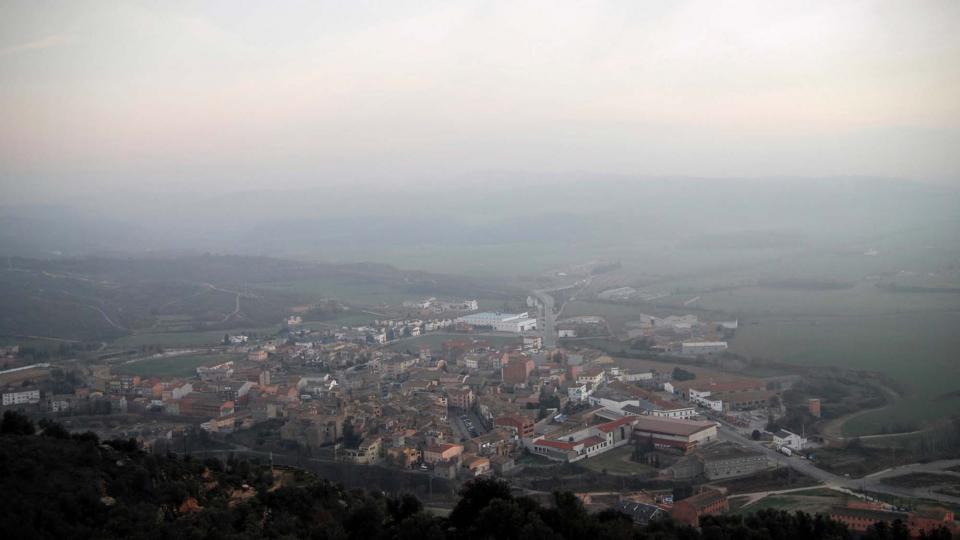 30.12.2015 vista del poble  Torà -  Ramon Sunyer
