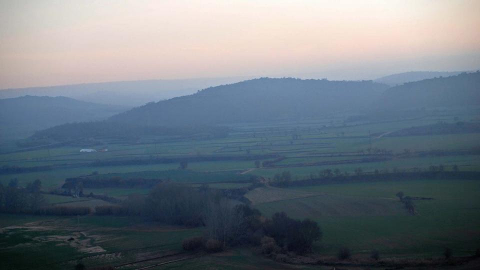 30.12.2015 vista de la vall  Torà -  Ramon Sunyer