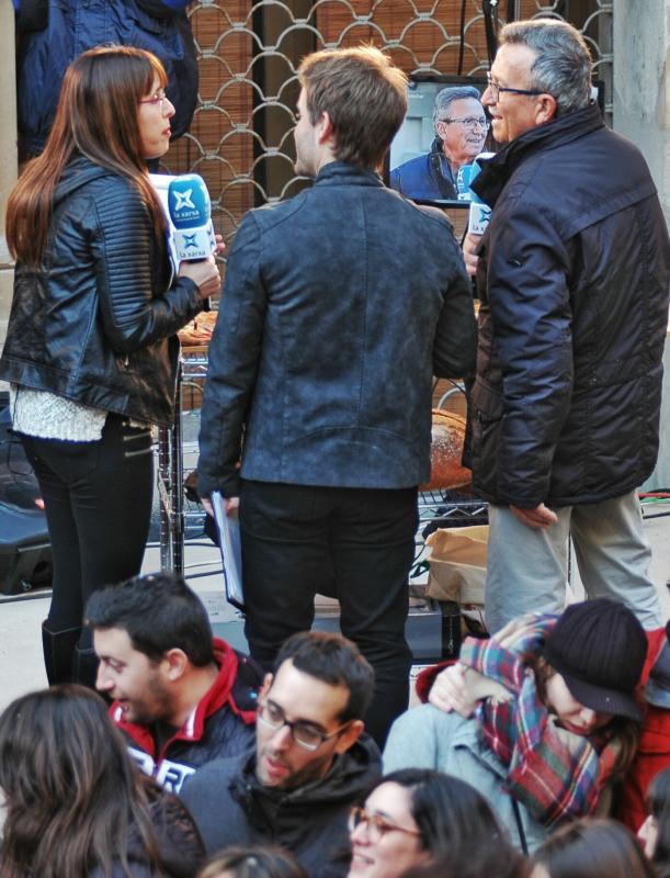 30.01.2016 El Josep Miramunt entrevistat  Torà -  Xavier Sunyer