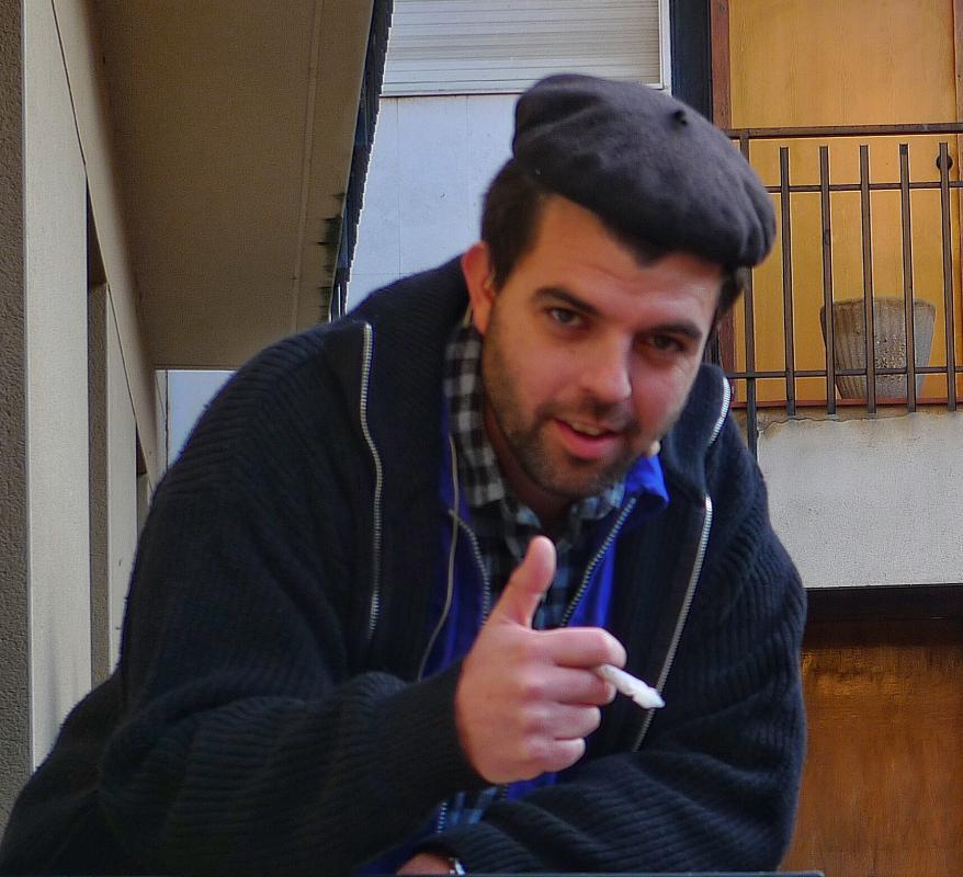 30.01.2016 El Gerard, a punt per la seva actuació  Torà -  Xavier Sunyer