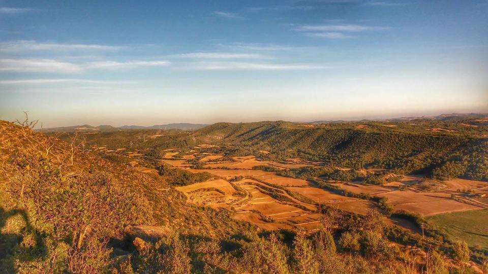 02.09.2014 La vall de Cellers des de sant Donat  Fontanet -  Ramon Sunyer