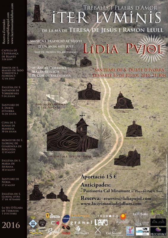 cartell Iter Luminis de Lídia Pujol al Sant Dubte d'Ivorra