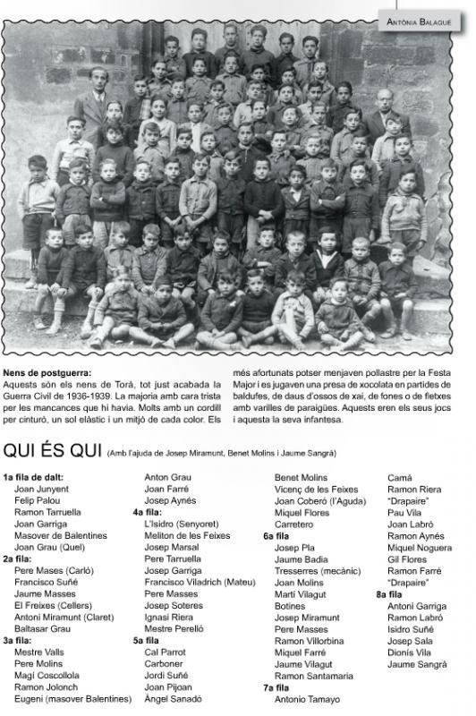 20.09.1939 Escola de Torà justa acabada la guerra civil  Torà -  LLobregós Informatiu