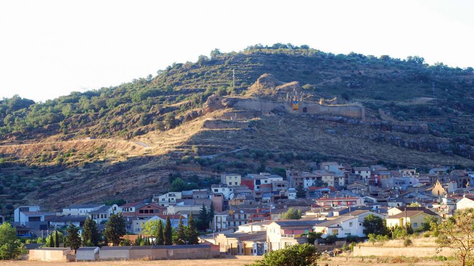 17.07.2016 vista del poble  Sanaüja -  Ramon Sunyer