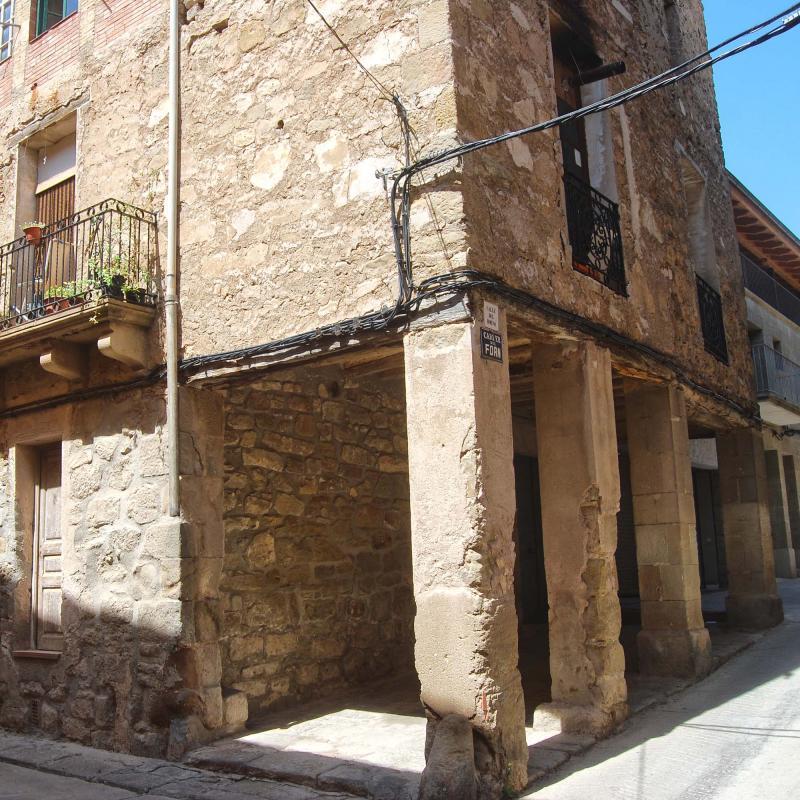 16.08.2016 Porxos carrer del Forn  Sanaüja -  Ramon Sunyer