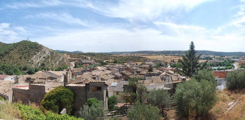 16.08.2016 Vista des del castell  Sanaüja -  Ramon Sunyer