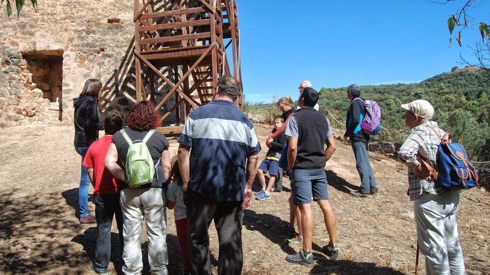 Visitant la Torre de Vallferosa Foto: Ramon Sunyer - Vallferosa