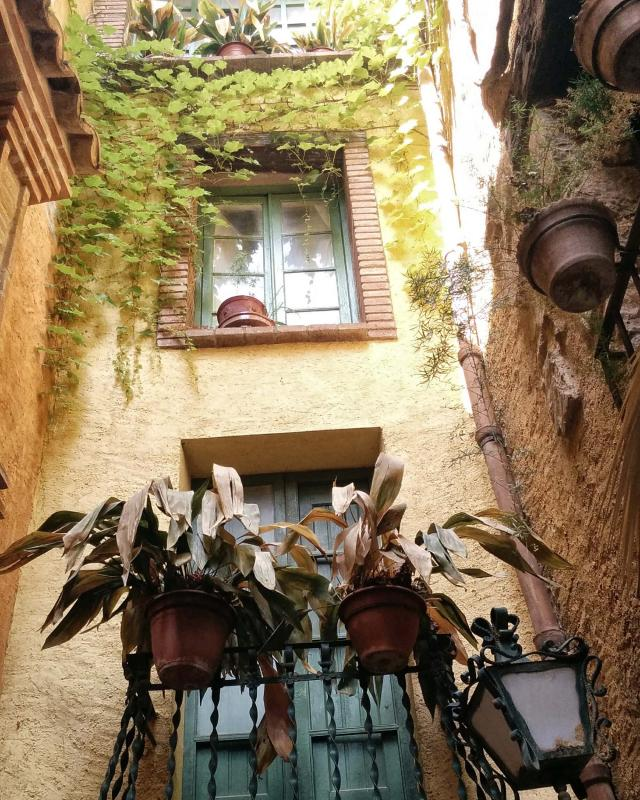 17.08.2016 detall façana  Torà -  Ramon Sunyer
