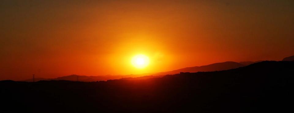 Vall del Llobregós: Postes de Sol