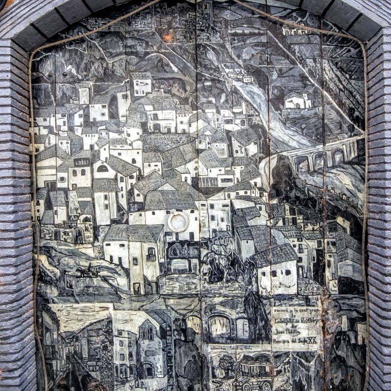 15.08.2015 mural  Castellfollit de Riubregós -  Ramon Sunyer