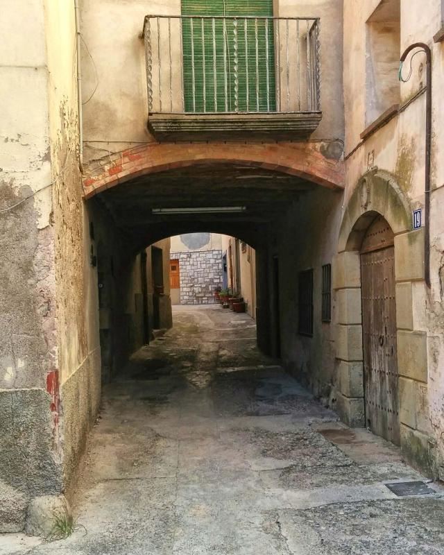 16.11.2014 pas cobert  Castellfollit de Riubregós -  Ramon Sunyer