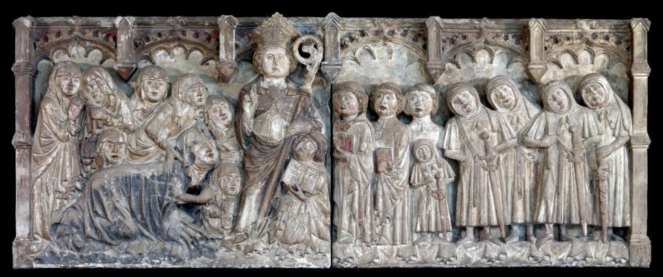 20.11.2016 El relleu del monument funerari gòtic de Torà que s'exhibeix al museu de Baltimore  Torà -  Walters Art Museum