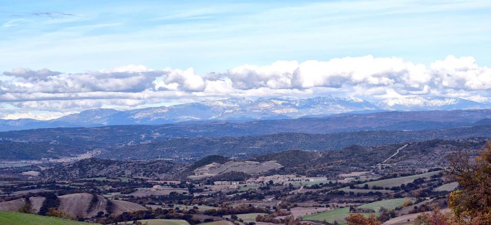27.11.2016 vista amb Pirineu  Palouet -  Ramon Sunyer