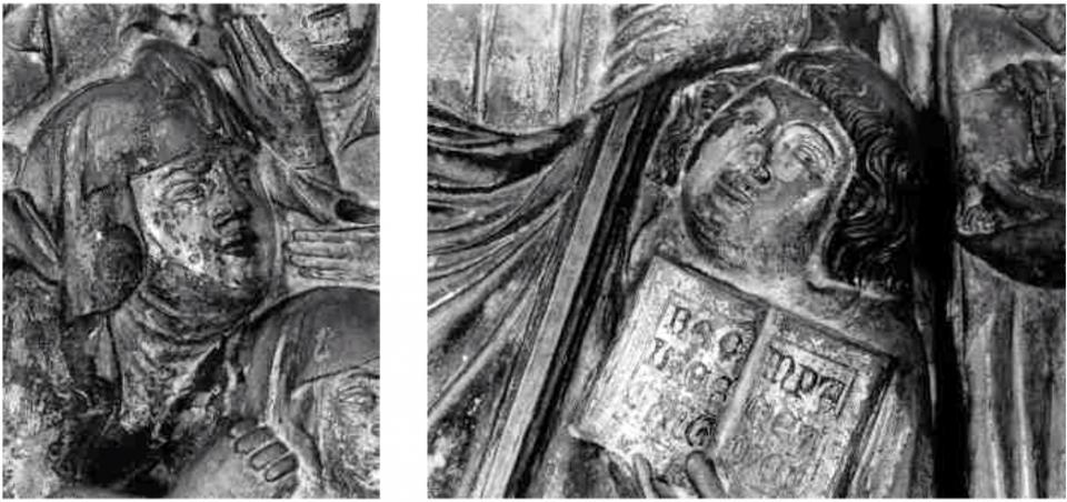 Detall del frontal, planctus ritual i acòlit Foto: anònim - Torà