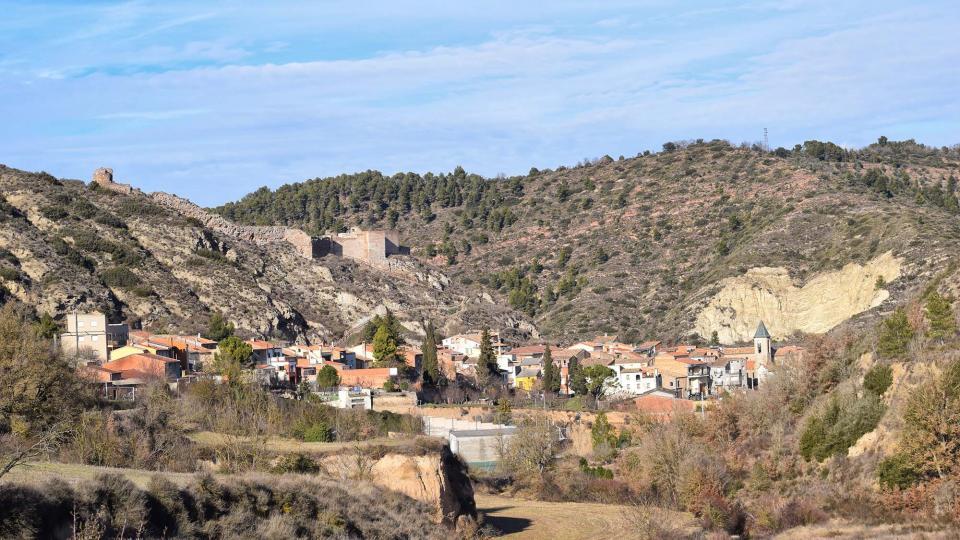 29.01.2017 vista del poble  Castellfollit de Riubregós -  Ramon Sunyer