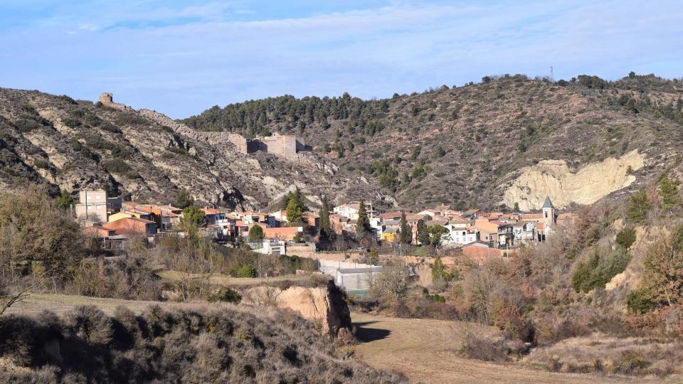 29.01.2017 vista sud del poble  Castellfollit de Riubregós -  Ramon Sunyer