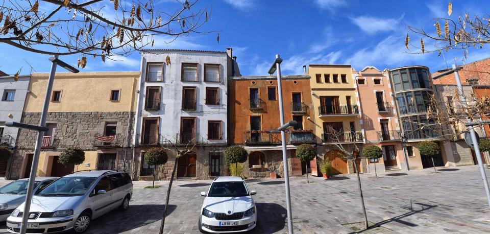 12.03.2017 Panoràmica de la plaça del Vall  Torà -  Ramon Sunyer