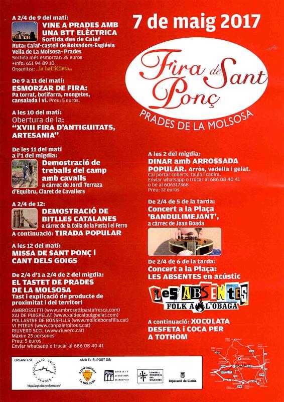cartell Fira de Sant Ponç 2017