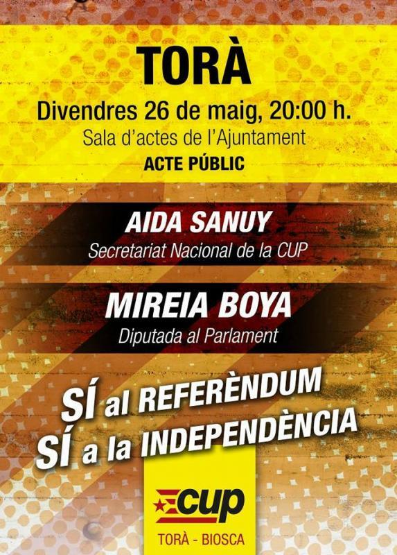 cartell Sí al Referèndum, sí a la Independència! -