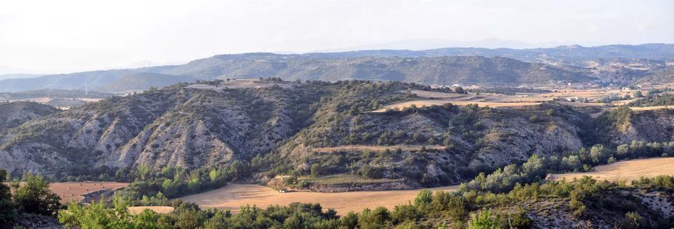 Paisatge de les guixeres a la zona de Talteüll - Biosca