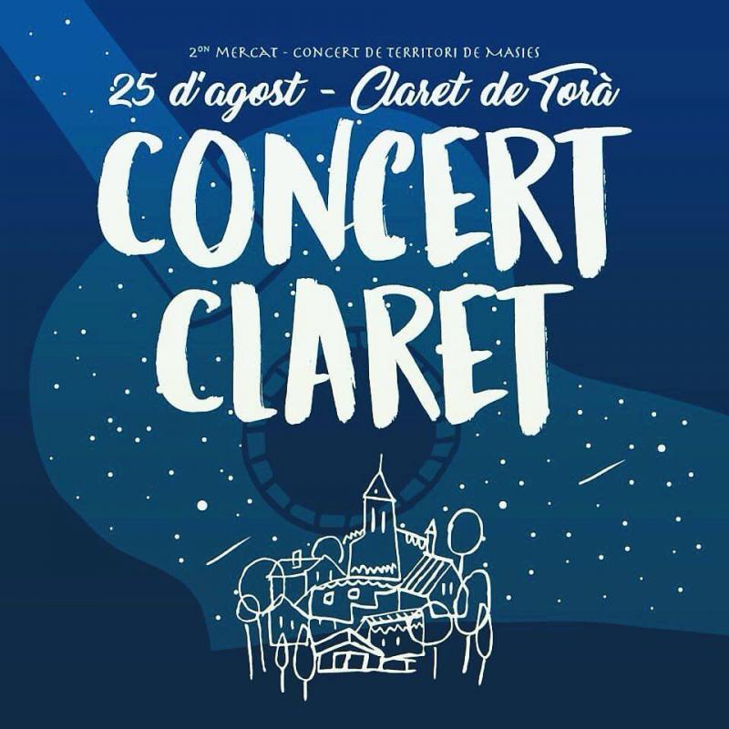 cartell 2on Mercat-Concert a Claret - Claret
