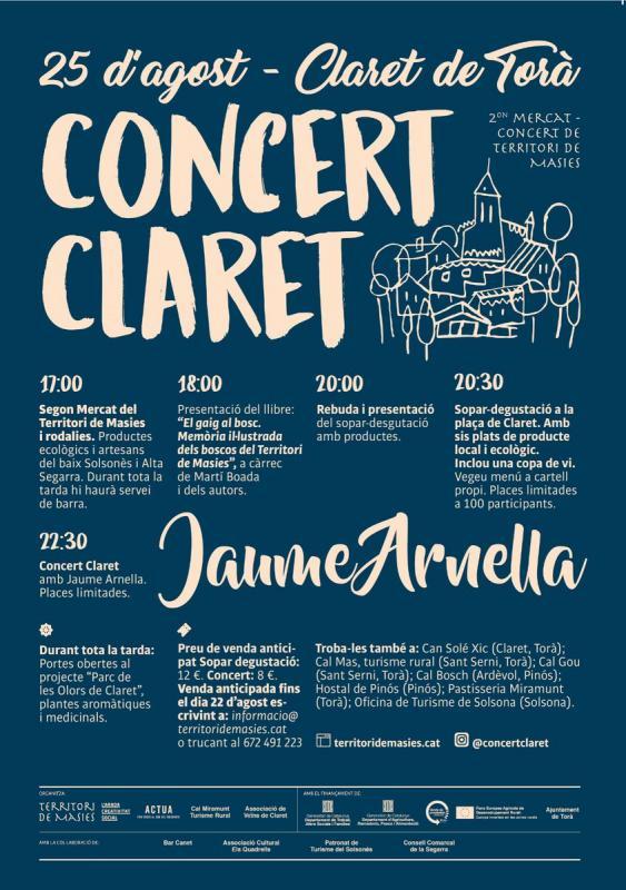cartell 2on Mercat-Concert a Claret