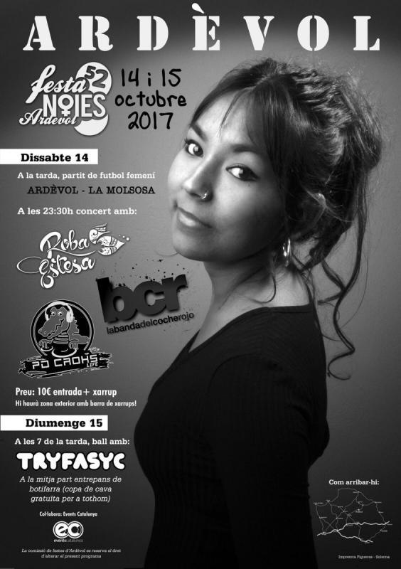 cartell Festa de les Noies d'Ardèvol 2017 - Ardèvol