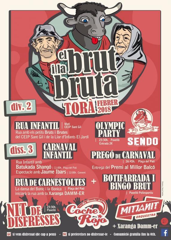 cartell El Brut i la Bruta 2018 -