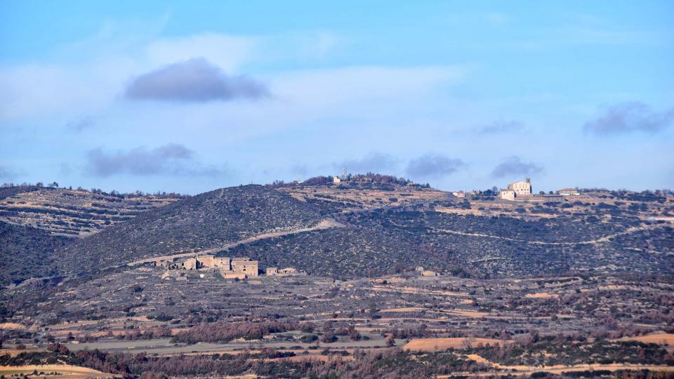 la Serra de Pinós vista des de la Molsosa - Pinós