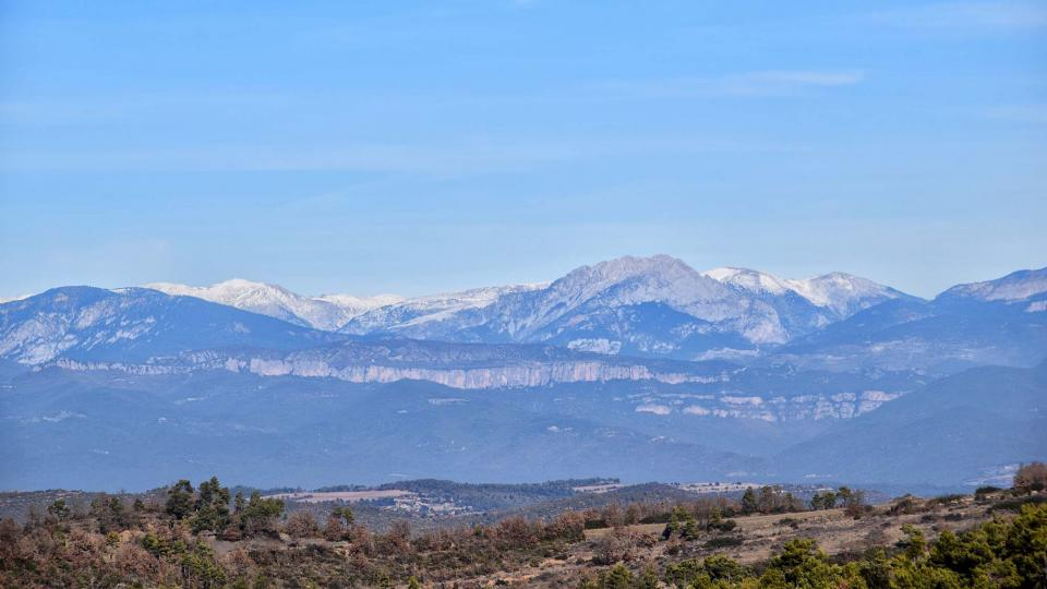 28.12.2012 vista del Pedraforca  Prades de la Molsosa -  Ramon Sunyer