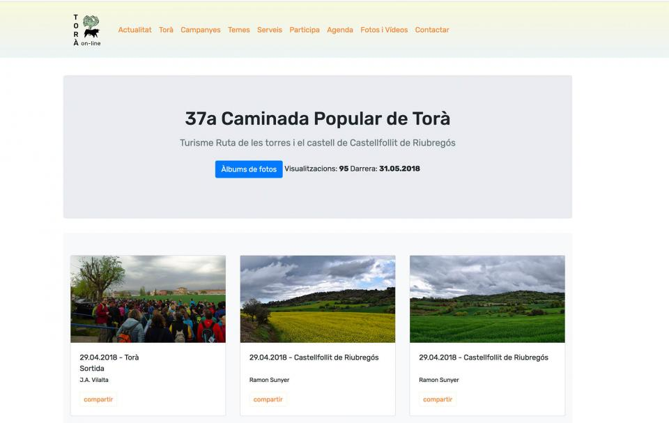 Album de fotos de la nova versió de Torà on-line,