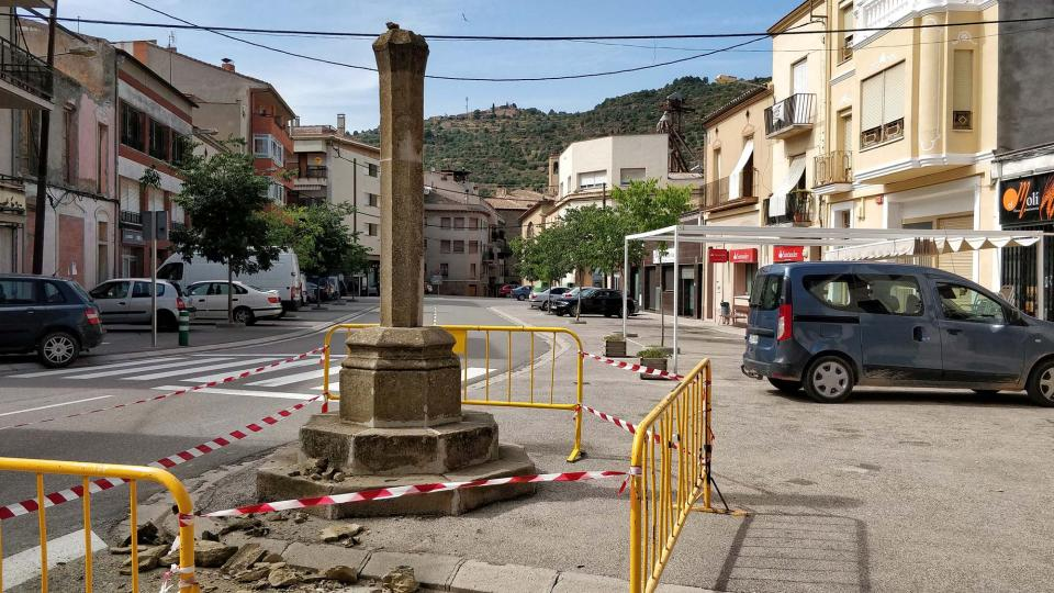 Creu de sant Ramon destrossada Foto: Ramon Sunyer - Torà