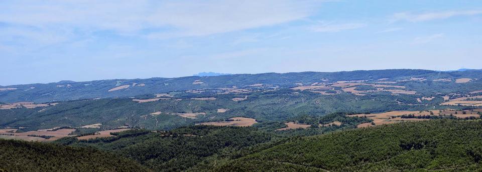 08.07.2018 Vista des del santuari de la zona de Pinós i Castelltallat 20 anys després dels focs  Pinós -  Ramon Sunyer