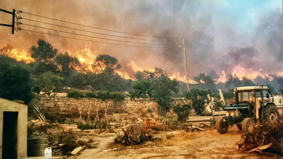 20.07.2018 El foc passant per cal Minguet  Cellers -  Hostal Jaumet
