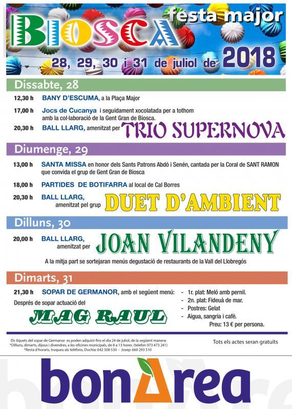 Festa major de Biosca 2018
