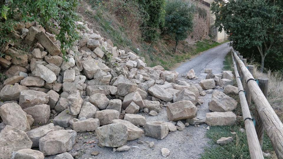01.10.2018 Despreniment de part de la muralla  Torà -  Ramon Sunyer
