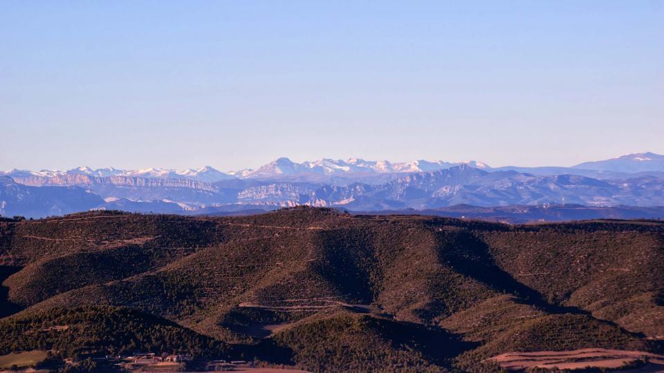 31.12.2018 vista del Pirineu  Prades de la Molsosa -  Ramon Sunyer