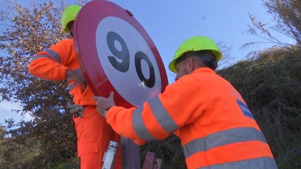90 km/h, nou límit de velocitat a les carreteres generals
